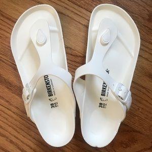 🆕 White Eva Birkenstocks Size 38 7.5 Waterproof!